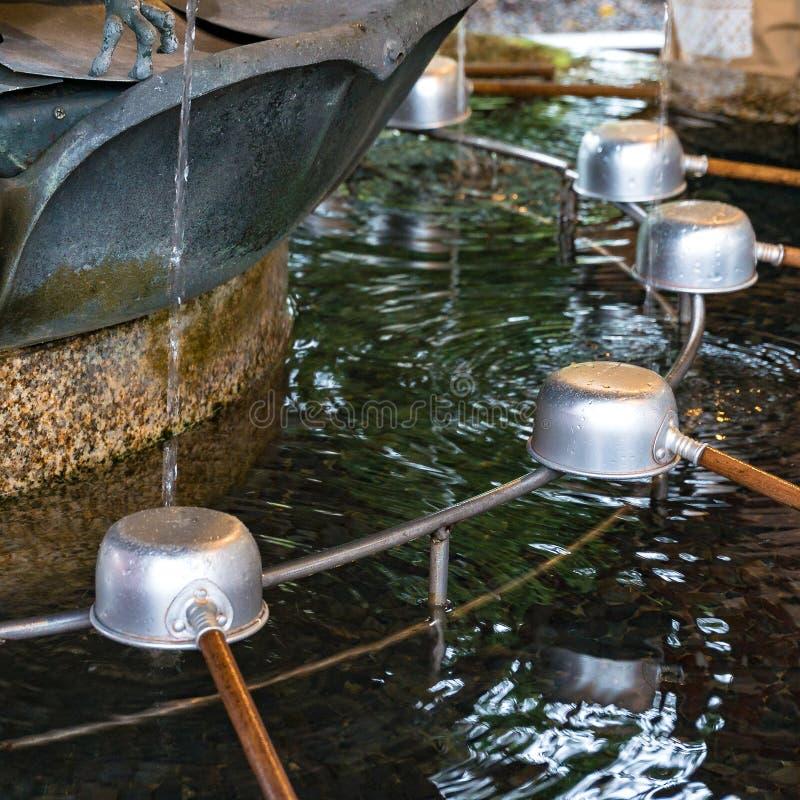 De fontein van de Chozuyareiniging Japanse cultuur royalty-vrije stock afbeelding