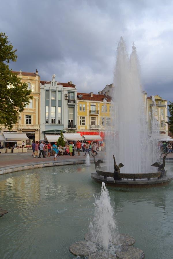 De fontein van de Plovdivhoofdstraat stock foto's