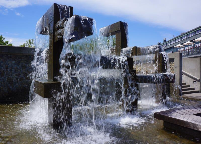 De Fontein van de Waterkant van Seattle stock fotografie