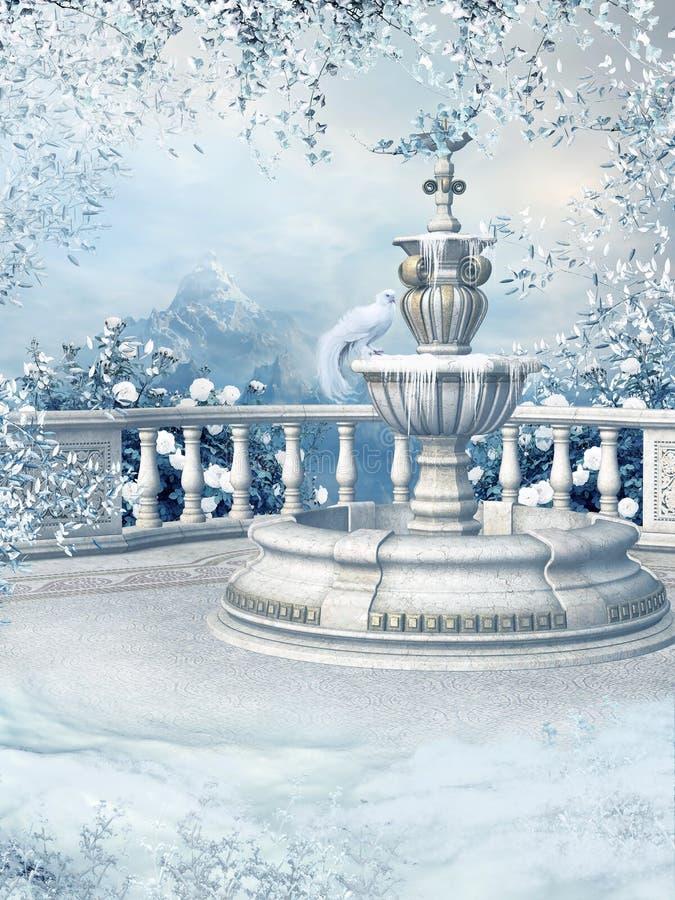 De fontein van de winter vector illustratie
