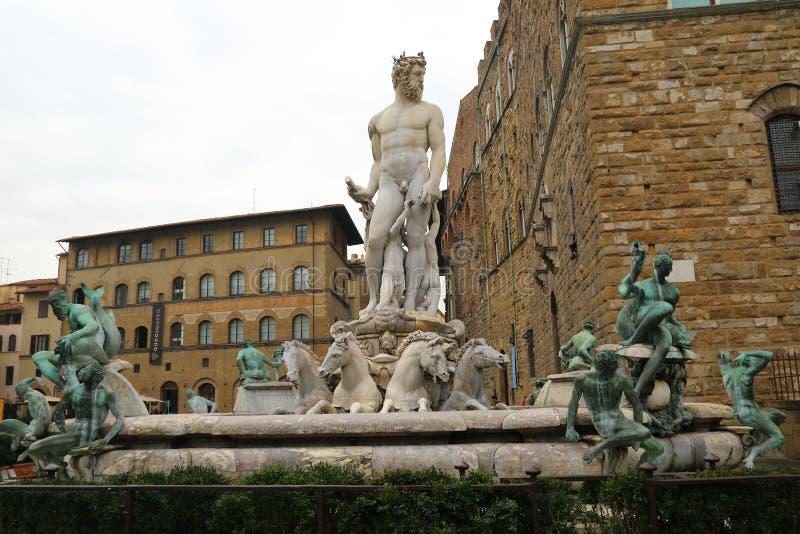 De Fontein van Florence van Neptunus stock foto