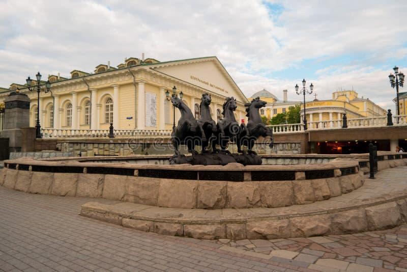 De fontein van het paard stock foto