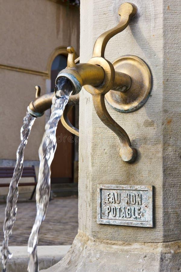 De Fontein van het water stock foto's