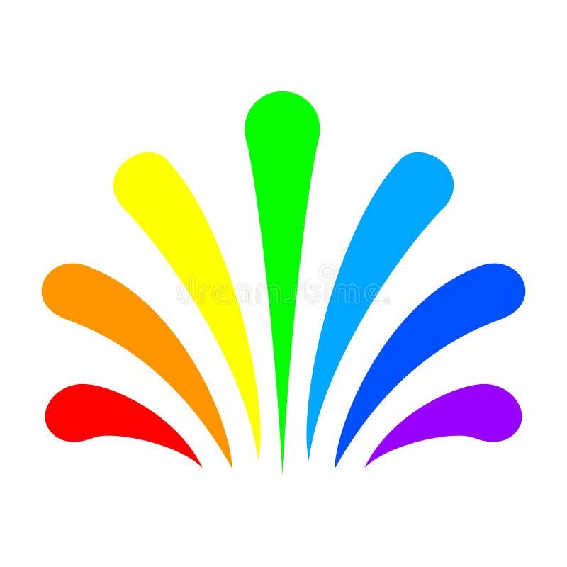 De fontein van de kleurenregenboog - vector stock illustratie