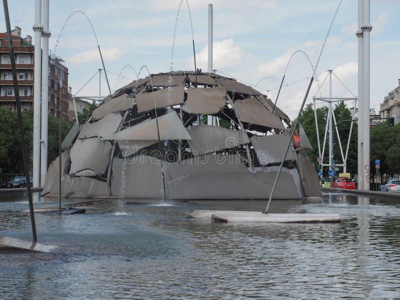 De fontein van de Merziglo in Turijn royalty-vrije stock foto's