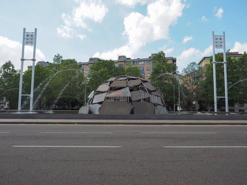 De fontein van de Merziglo in Turijn royalty-vrije stock afbeeldingen