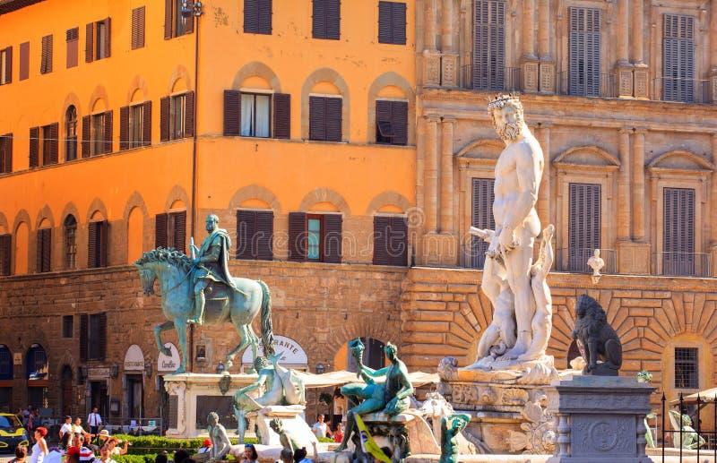 De fontein van Neptunus, Florence royalty-vrije stock afbeelding
