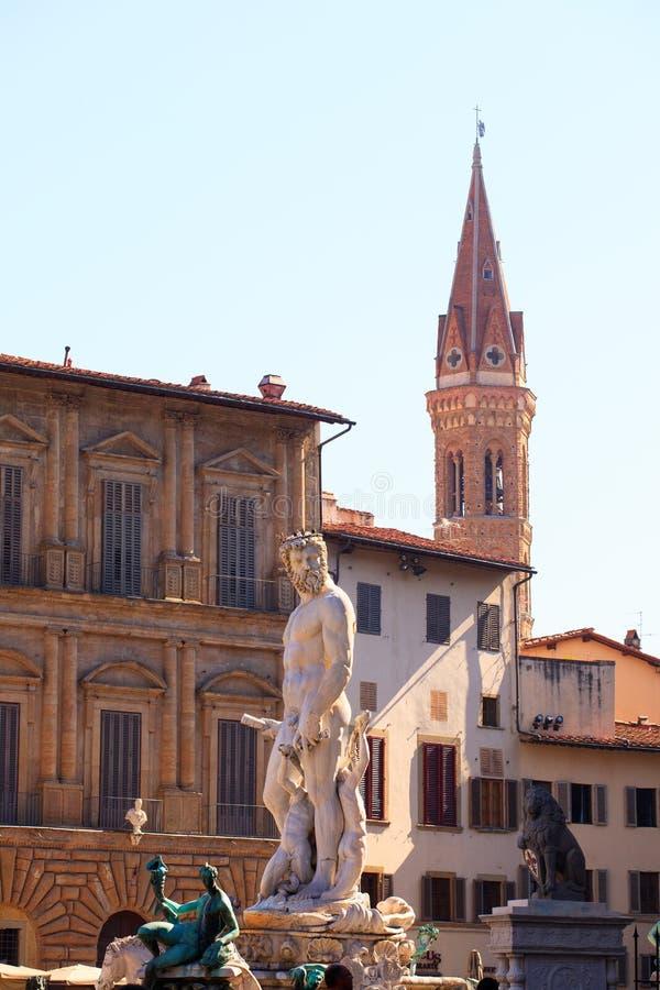 De fontein van Neptunus, Florence royalty-vrije stock afbeeldingen