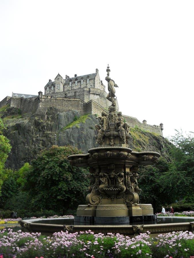 De fontein van Ross, het kasteel van Edinburgh, Schotland stock foto's