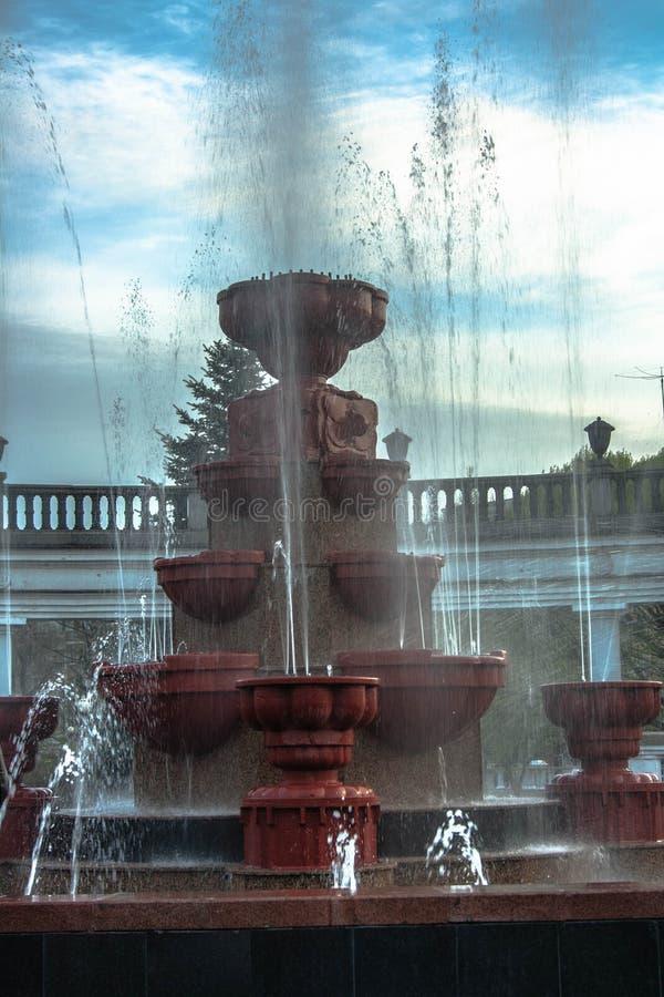 De fontein van de stad stock foto's