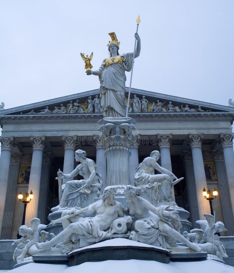 De fontein van Wenen - van Athena royalty-vrije stock afbeeldingen