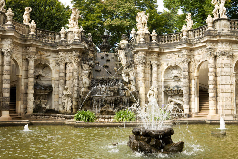 De fontein in Zwinger stock foto
