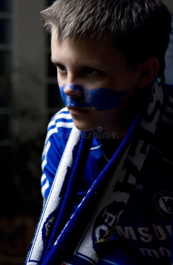 De footbal ventilator van Londen van Chelsea stock fotografie
