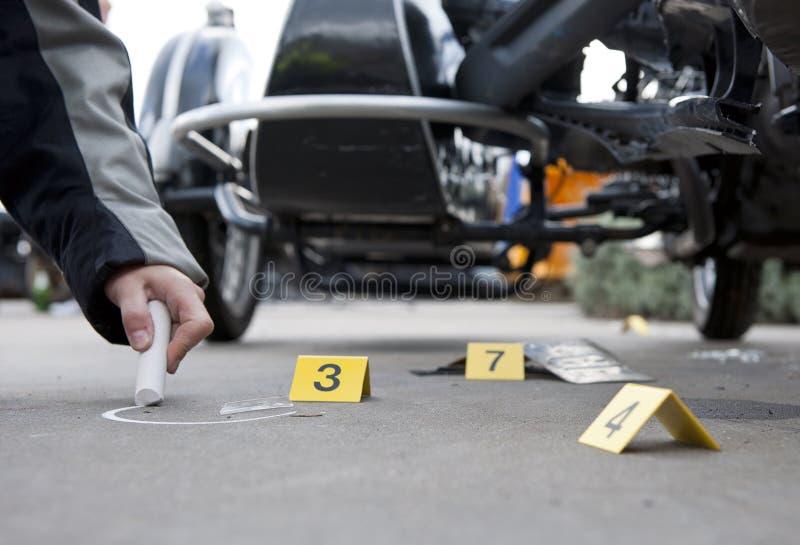 De forensische geneeskunde van het ongeval stock afbeeldingen
