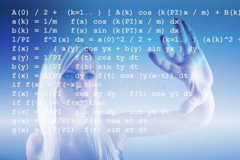De formule van de wiskunde stock foto's