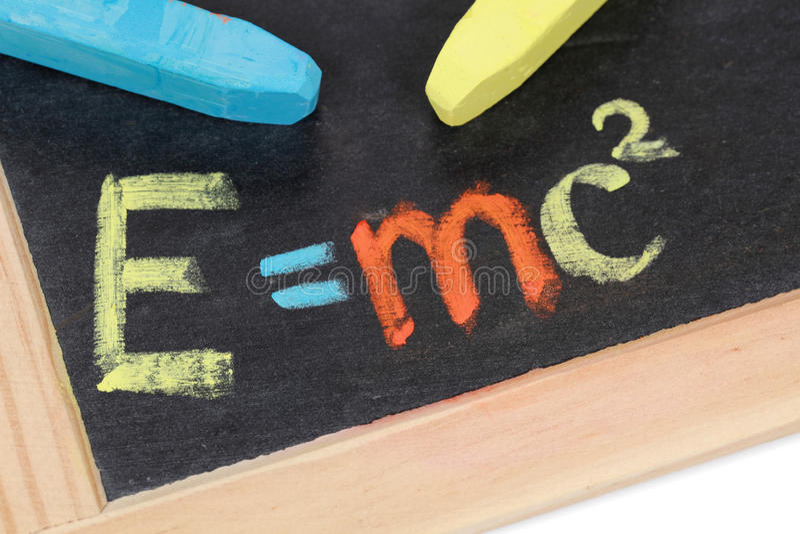 De formule van Einstein stock afbeelding