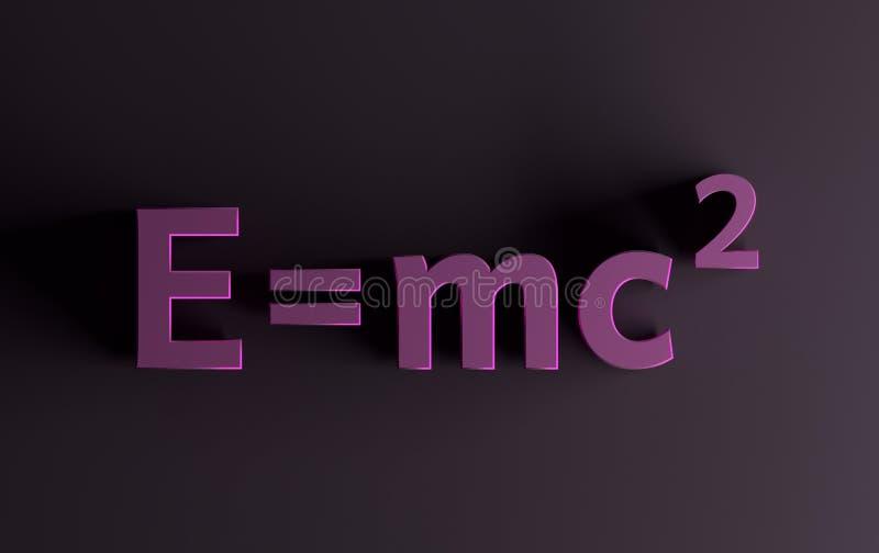 De formule van de massaenergie in roze kleuren vector illustratie