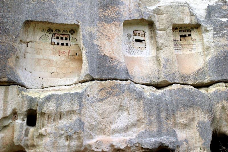 De forntida hällristningarna royaltyfri bild
