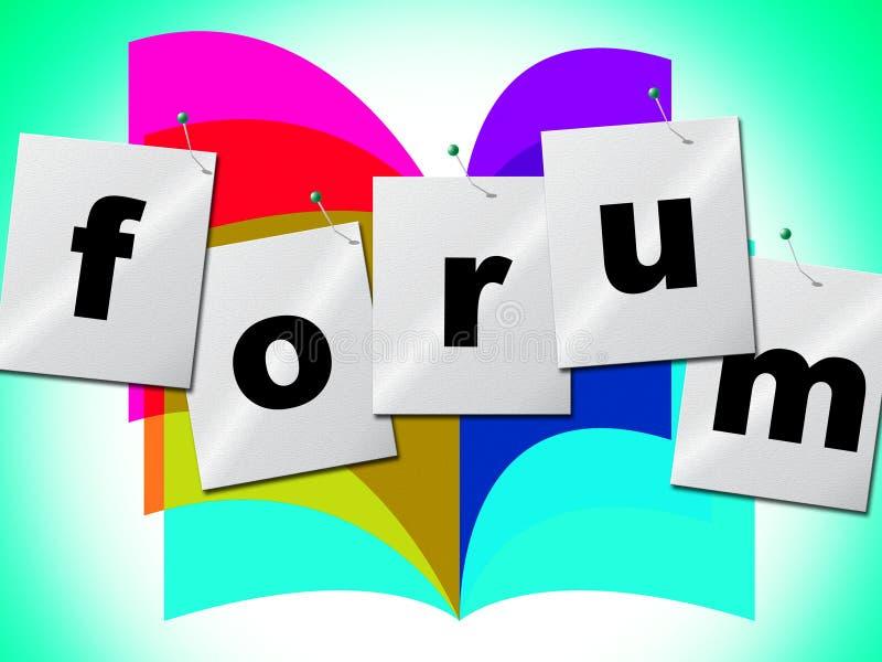 De forumforums wijst op Sociale Media en Groep stock illustratie