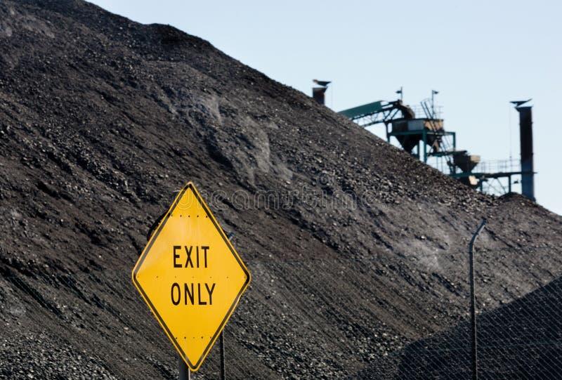De fossiele brandstof dit is steenkool royalty-vrije stock afbeelding
