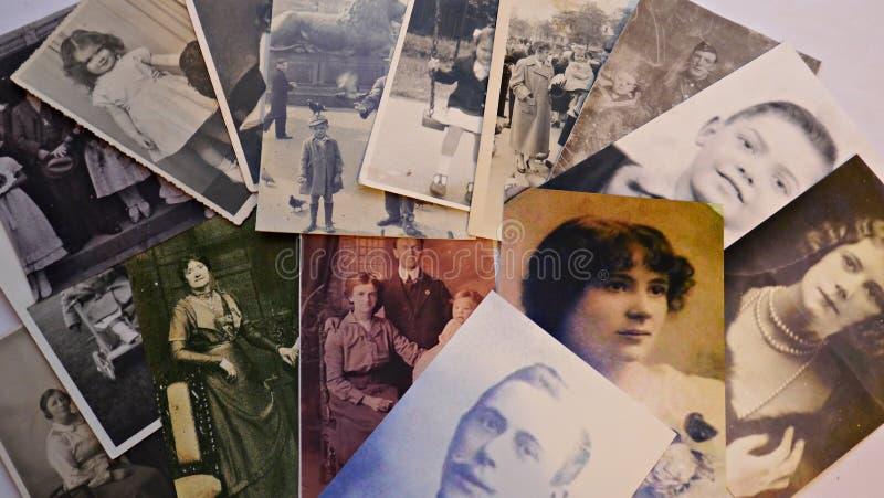 De Foto's van de voorgeslachtfamilie royalty-vrije stock afbeelding