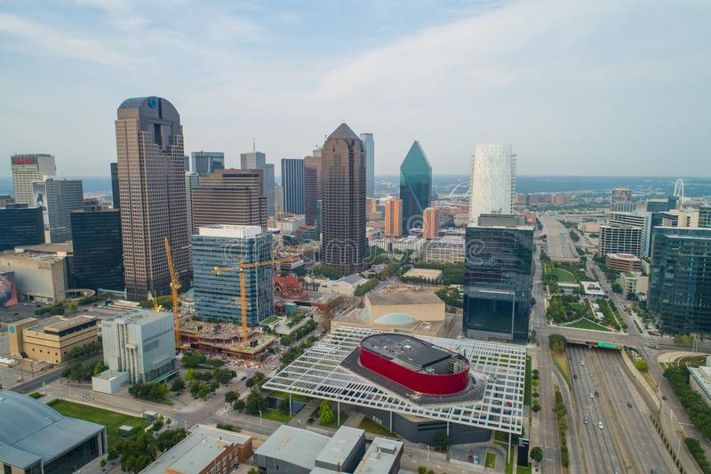 De foto van de Aerilhommel van Dallas Texas Van de binnenstad royalty-vrije stock afbeelding