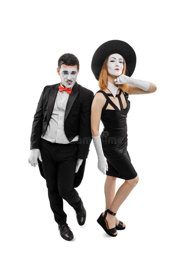 De foto van bootst paar na royalty-vrije stock afbeelding