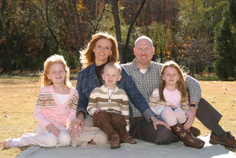 De Foto van de familie royalty-vrije stock foto
