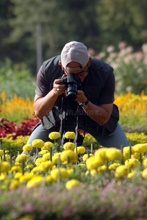 De foto van de fotograaf stock fotografie