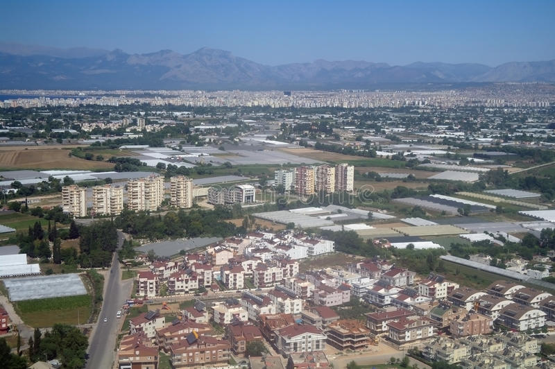 De foto van de lucht van stad. royalty-vrije stock fotografie