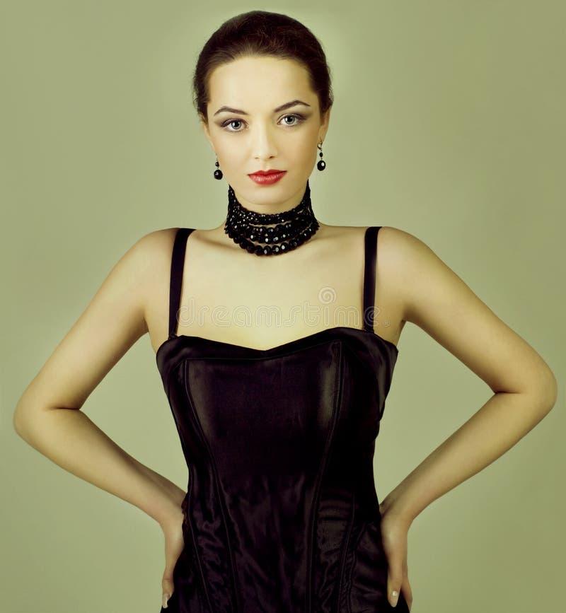 De foto van de manier van jonge vrouw royalty-vrije stock fotografie