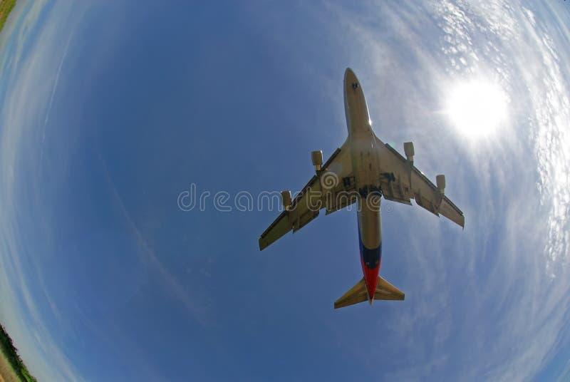 De foto van de voorraad van een vliegtuig stock afbeeldingen