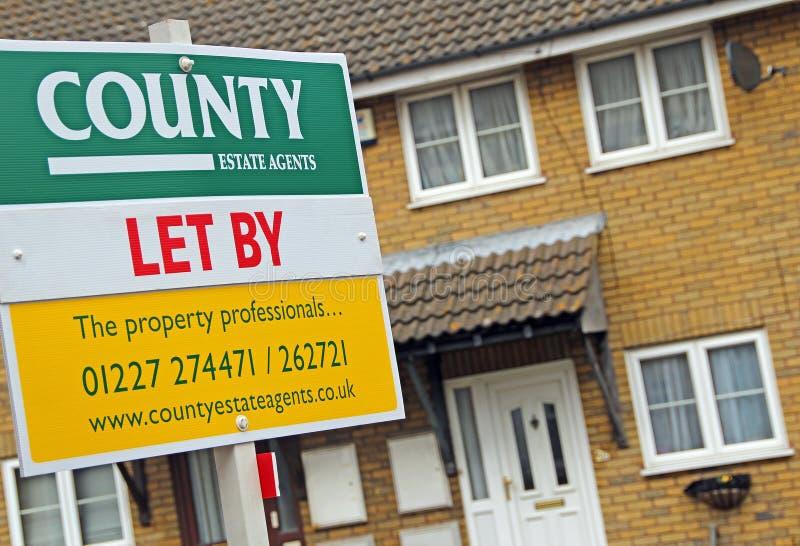De immobiliënmarkt liet door raad stock foto