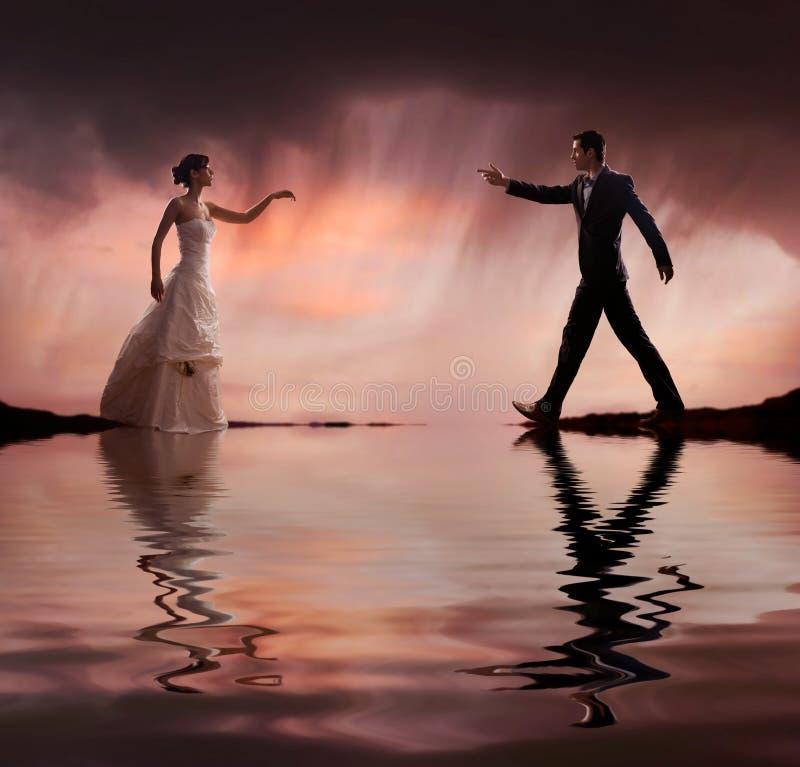 De foto van het huwelijk