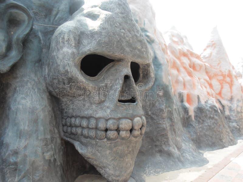 De Foto van het schedelbeeldhouwwerk royalty-vrije stock foto