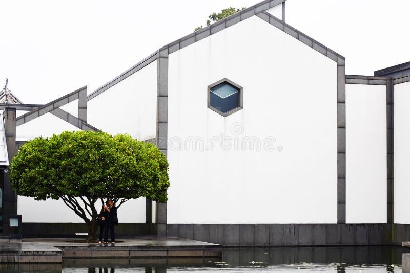 De foto van het Suzhoumuseum stock afbeeldingen