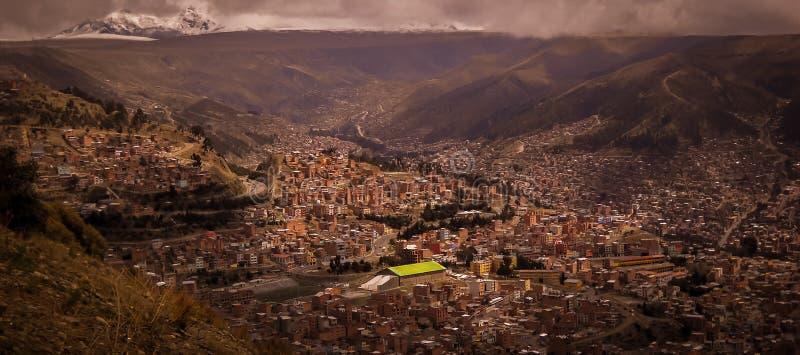 De foto van La Paz Bolivia Downtown van de Historische Hoofdstad royalty-vrije stock fotografie
