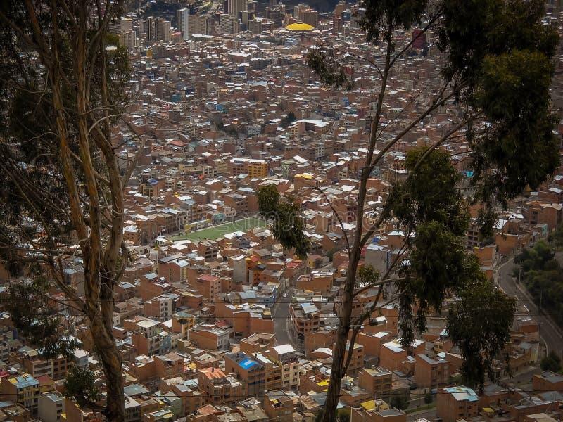 De foto van La Paz Bolivia Downtown van de Historische Hoofdstad royalty-vrije stock foto