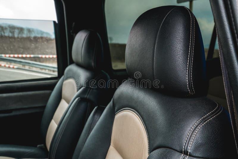 De foto van nieuwe voorzetels in de auto royalty-vrije stock foto