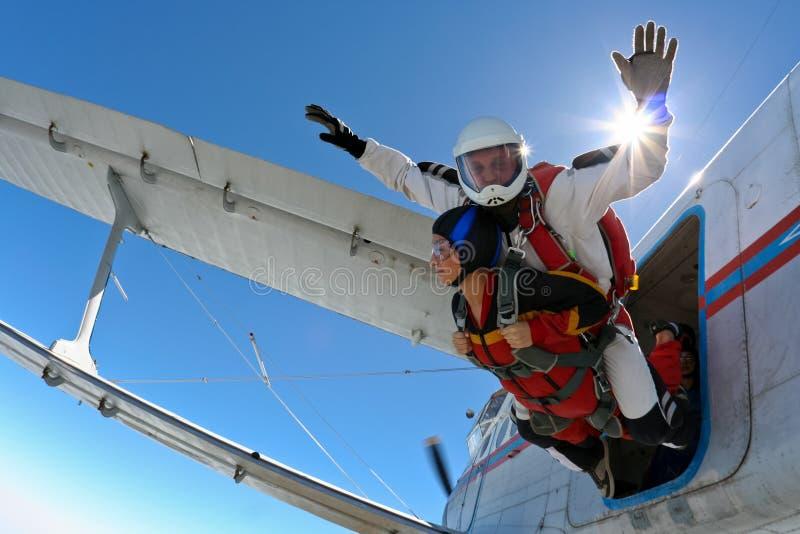 De foto van Skydiving stock afbeeldingen