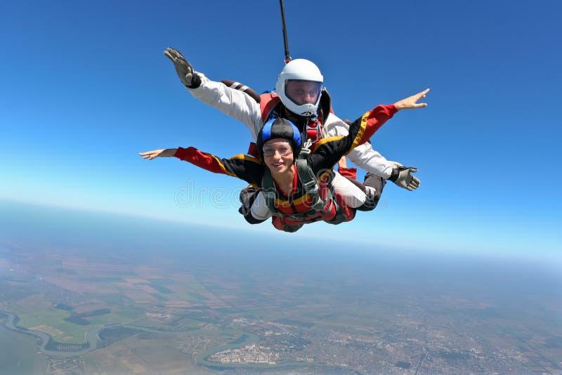 De foto van Skydiving stock foto