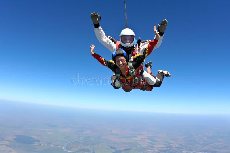 De foto van Skydiving stock afbeelding