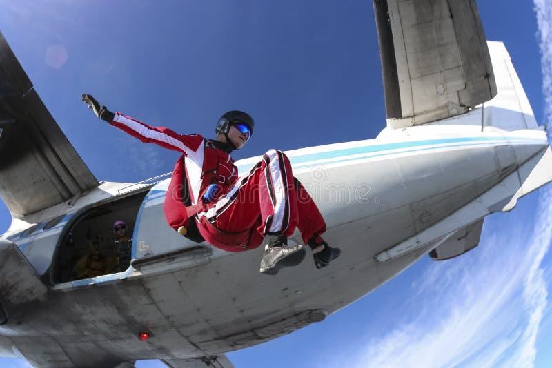 De foto van Skydiving. royalty-vrije stock afbeeldingen