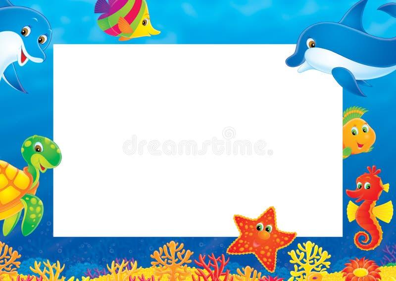 De fotoframe van de zomer vector illustratie