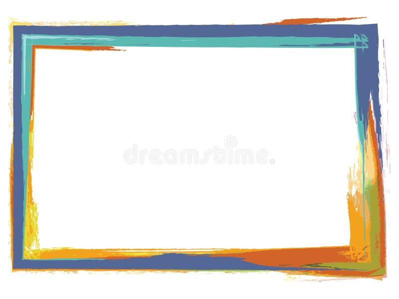 De fotoframe van Grunge vector illustratie