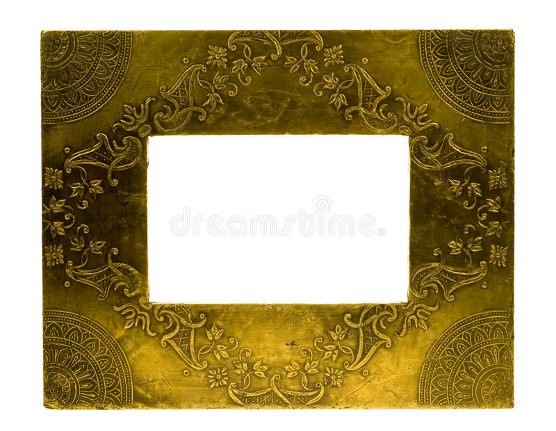 De fotoframe van het metaal stock fotografie