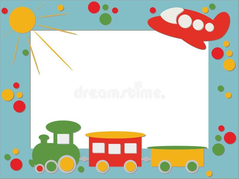 De fotoframe van kinderen stock illustratie