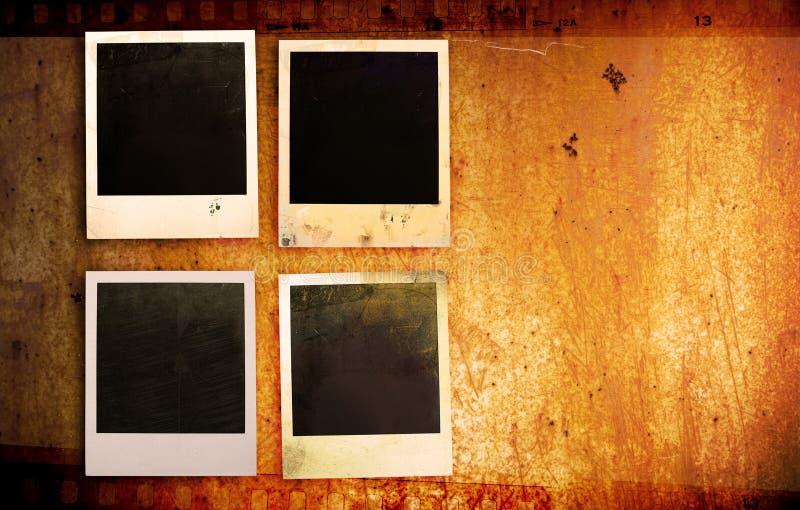 De fotoframes van Grunge stock foto's