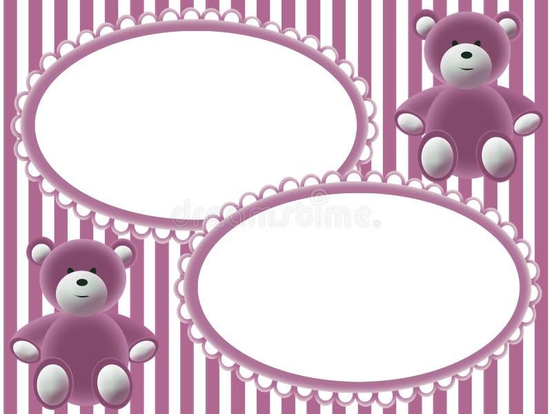 De fotoframes van kinderen met beren royalty-vrije illustratie