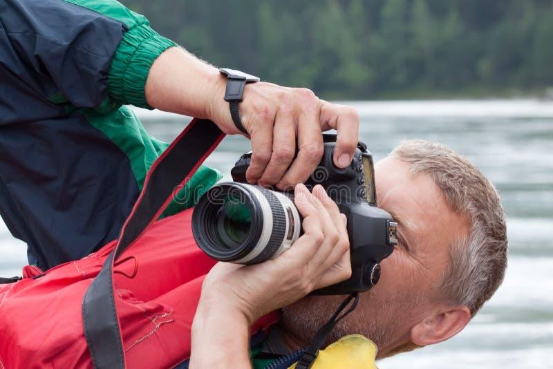 De fotograaf van de aard neemt beelden royalty-vrije stock foto's